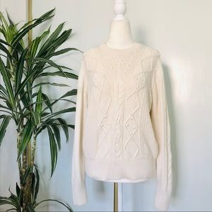 Banana Republic Wool Blend Embellished Sweater